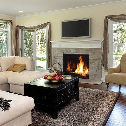 Houzz Fireplace Ideas: Contemporary Gas Fireplaces Ideas, Pictures, Remodel And Decor