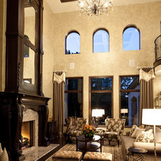 Traditional Living Room by Christopher Scott Homes