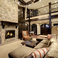 Transitional Living Room by Divine Custom Homes