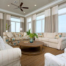 Beach Style Living Room by In Detail Interiors