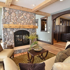 Rustic Living Room by Highmark Builders