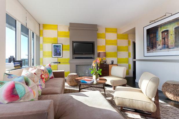Contemporary Living Room by Drew McGukin Interiors @drewmcgukin