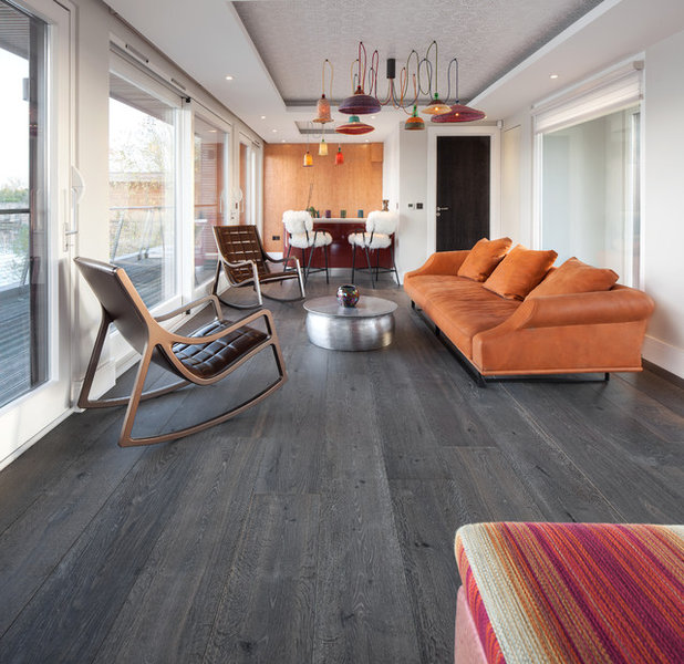 Contemporary Living Room by The New & Reclaimed Flooring Company