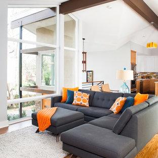 Immagine di un soggiorno moderno aperto con sala formale