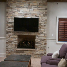 Traditional Living Room by North Star Stone