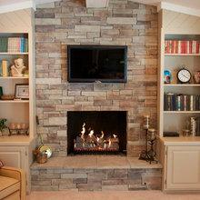 Dry Stack Stone Veneer Fireplace Klisk Allrum