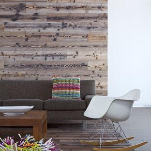 Inspiration for a modern dark wood floor living room remodel in San Diego