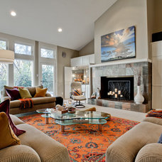 Contemporary Living Room by Jodell Clarke Designs