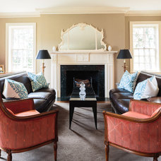 Traditional Living Room by Todd Richesin Interiors