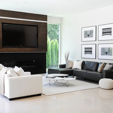 Contemporary Living Room by Twenty One Two Designs Inc.