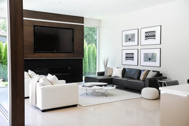 Contemporary Living Room by Amanda Evans Interiors Inc.