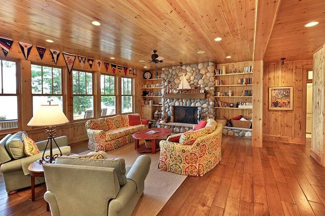 Rustic Living Room by MAC Custom Homes