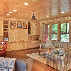 Rustic Living Room by MAC Custom Homes