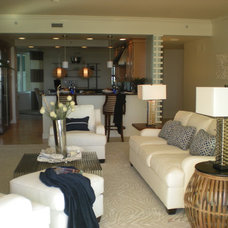 Beach Style Living Room by SUSAN PETRIL, INTERIOR DESIGNS