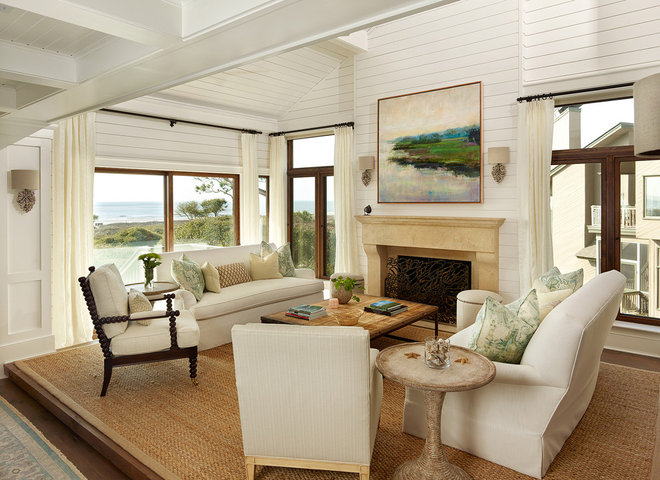 Beach Style Living Room by M. Brennan Architects, Inc.