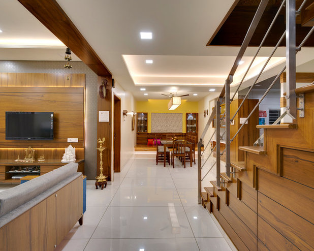 Indian Living Room by CULTURALS INTERIOR DESIGNERS