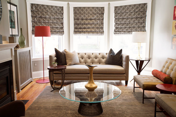 Transitional Living Room by Joshua Alan Interiors