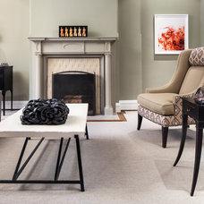 Transitional Living Room by Samantha Friedman Interior Designs