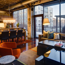 Industrial Living Room by Mark Teskey Architectural Photography