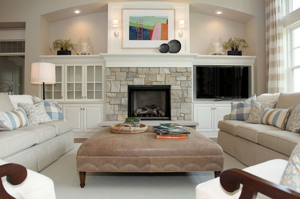 Transitional Living Room by Dwellings