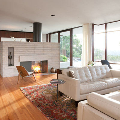 Inspiration for a 1960s living room remodel in Austin