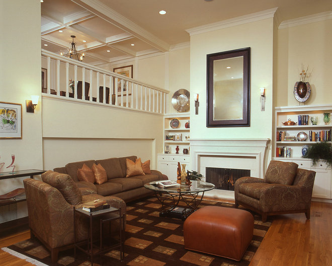Traditional Living Room by Dzignit, Patrice Greene