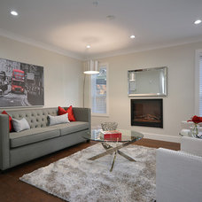 Contemporary Living Room by Positive Space Staging and Design Inc.