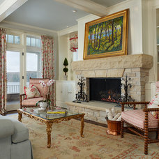 Traditional Living Room by Joseph Mosey Architecture, Inc.