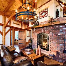 Traditional Living Room by Bensonwood