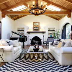 mediterranean living room by Stephanie Wiley Photography