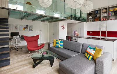 Houzz Tour: A Small Studio Apartment with a Mezzanine Bedroom