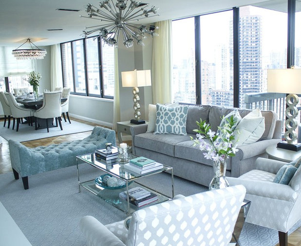 Transitional Living Room by DLT Interiors