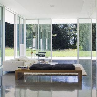 Immagine di un soggiorno minimalista aperto