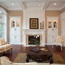 Traditional Living Room by Walker Homes LTD