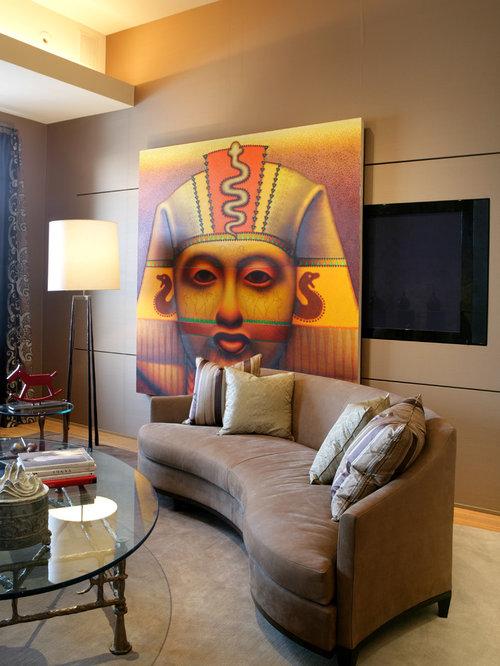 Tv Hidden Behind Art Home Design Ideas Renovations Photos