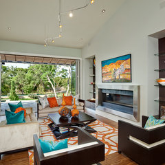 contemporary living room by Decorum Home + Design