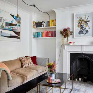 This is an example of a bohemian living room in London.