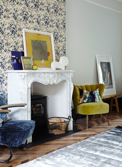 Eclectic Living Room by Run for the Hills
