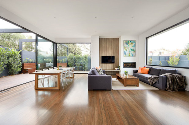Contemporary Living Room by LSA Architects