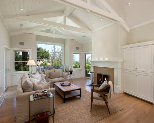 White Wood Ceiling Beams Home Design Ideas Renovations Photos