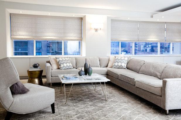 Contemporary Living Room by Jessica Gersten Interiors