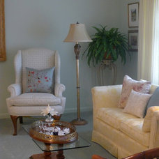 Traditional Living Room by Susan Brook Interiors
