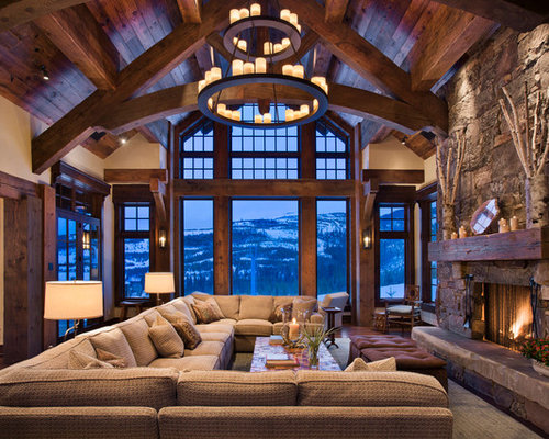 50 Rustic Living Room Design Ideas - Stylish Rustic Living Room ...