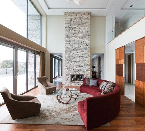 Contemporary Living Room by Tillman Domotics