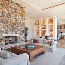 Southwestern Living Room by Eren Design and Remodel