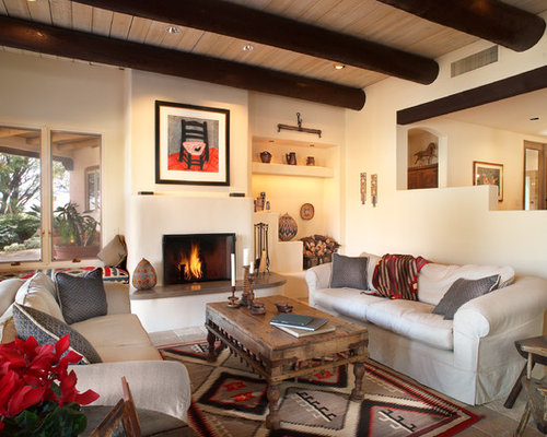 Southwestern fireplace ideas pictures remodel and decor - Pictures of decorated living rooms ...