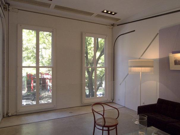 Industrial Living Room East Village Brownstone