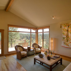 Asian Living Room by Copeland Architecture & Construction Inc