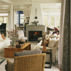 Rustic Living Room by Patrick Sutton Associates