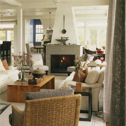 Rustic Living Room by Patrick Sutton Associates